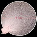 Nylon flower petals for nylon flowers, wires and Nylon, pink, 7.5cm x 6.5cm, 10 pieces, [www0006]